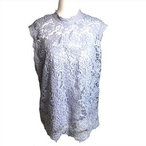 NWT Nanette Lepore Lilac Lace Top Large